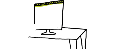 Header illustration: desk with computer